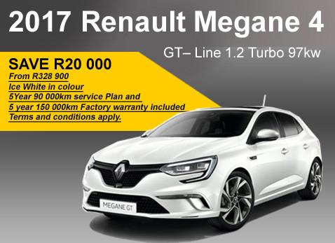 2017 Renault Megane 4 GT-Line 1.2 Turbo 97kW