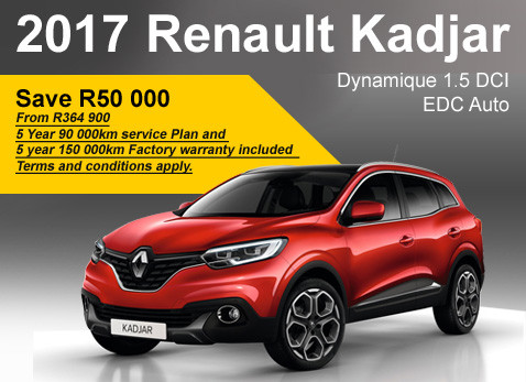 2017 Renault Kadjar Dynamique 1.5 DCI EDC Auto