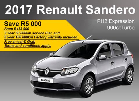 2017 Renault Sandero PH2 Expression 900 cc Turbo