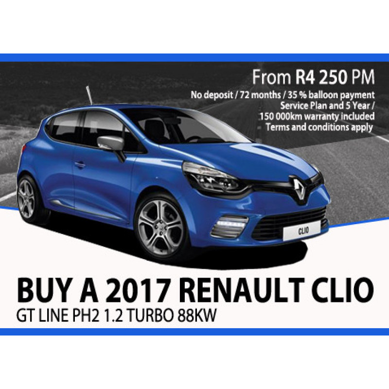 Buy a 2017 Renault Clio GT Line PH2 1.2 Turbo 88kW