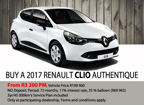 Buy a 2017 Renault Clio Authentique