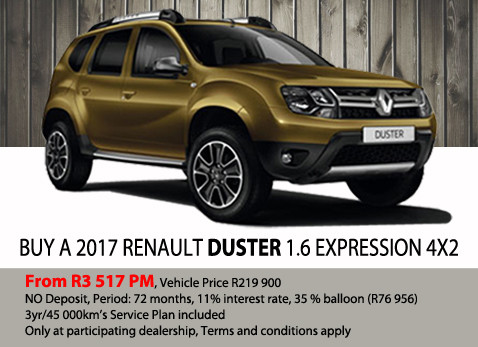 Buy a 2017 Renault Duster 1.6 Expression 4X2