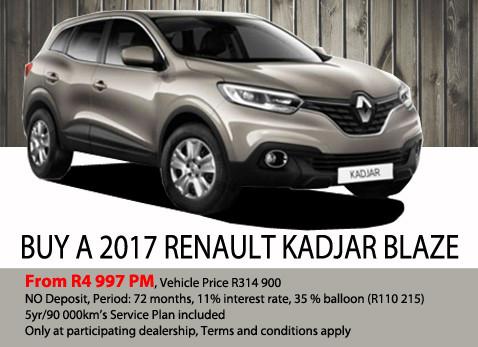Buy a 2017 Renault Kadjar Blaze