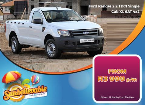 2017 Ford Ranger 2.2 TDCI Single Cab XL 6 AT 4X2