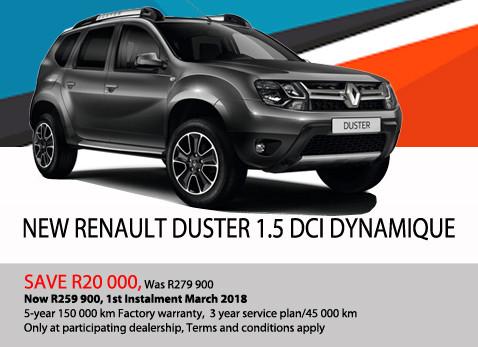 New renault Duster 1.5 DCI Dynamique