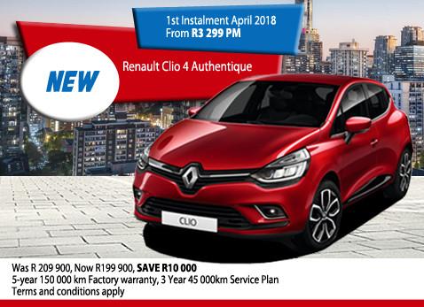 New Renault Clio 4 Authentique