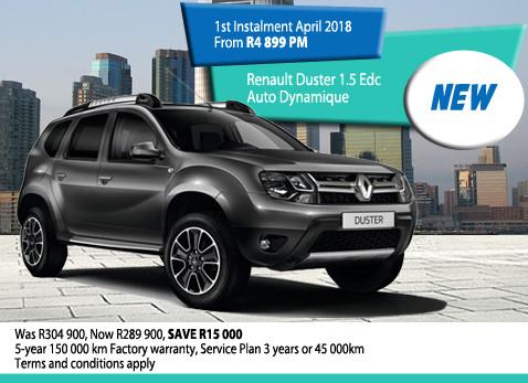 New Renault Duster 1.5 EDC Auto Dynamique