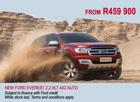 New Ford Everest 2.2 XLT 4X2 Auto