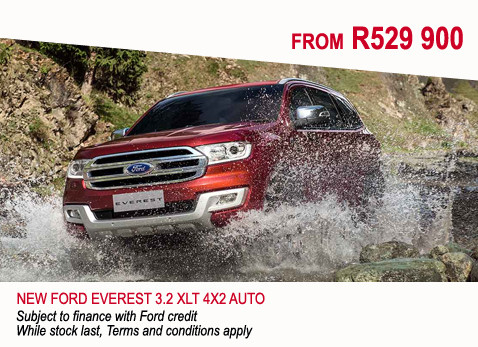 New Ford Everest 3.2 XLT 4X2 Auto