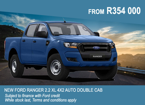 New Ford Ranger 2.2 XL 4X2 Auto Double Cab