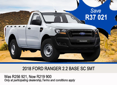2018 Ford Ranger 2.2 Base SC 5MT