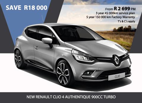 New Renault Clio 4 Authentique 900cc Turbo